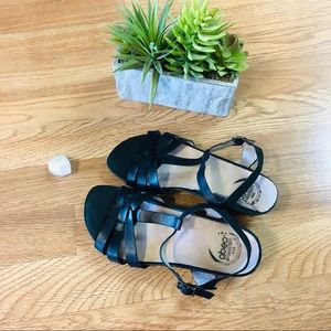 Abeo black strappy Irma sandals size 6